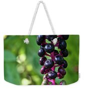 American Pokeweed Berries Weekender Tote Bag