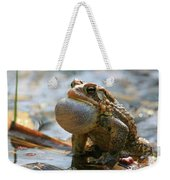American Toad Croaking Weekender Tote Bag