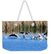 American White Pelicans Weekender Tote Bag