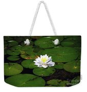 American White Waterlily Weekender Tote Bag