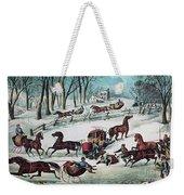 American Winter 1870 Weekender Tote Bag by Photo Researchers