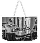 Americana - 1950 Kitchen - 1950s - Retro Kitchen Black And White Weekender Tote Bag