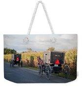 Amish Buggies October Road Weekender Tote Bag