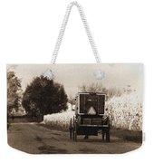Amish Buggy And Wagon Weekender Tote Bag