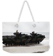 Amphibious Assault Vehicles Land Ashore Weekender Tote Bag