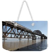 Amtrak Train Riding Atop The Benicia-martinez Train Bridge In California - 5d18829 Weekender Tote Bag