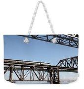 Amtrak Train Riding Atop The Benicia-martinez Train Bridge In California - 5d18837 Weekender Tote Bag