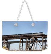 Amtrak Train Riding Atop The Benicia-martinez Train Bridge In California - 5d18839 Weekender Tote Bag