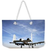 An A-10 Thunderbolt II Taxies Weekender Tote Bag by Stocktrek Images
