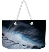 An Aerial View Captures A Large Wave Weekender Tote Bag
