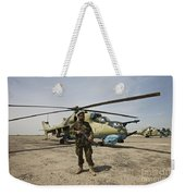 An Afghan Army Soldier Guards A Couple Weekender Tote Bag