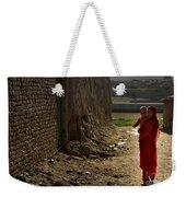 An Afghan Girl Carries Her Little Weekender Tote Bag