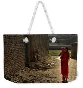 An Afghan Girl Carries Her Little Weekender Tote Bag