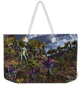 An Alien Being Surveys The Colorful Weekender Tote Bag by Mark Stevenson