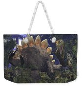 An Allosaurus Stumbles Upon A Grazing Weekender Tote Bag