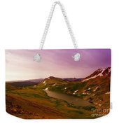 An Alpine Lake On Beartooth Pass  Weekender Tote Bag