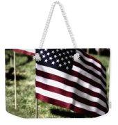 An American Flag Weekender Tote Bag