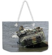 An Amphibious Assault Vehicle Climbs Weekender Tote Bag
