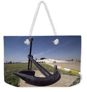 An Anchor Sits At The Entrance Weekender Tote Bag