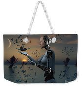 An Android Takes A Closer Look Weekender Tote Bag