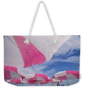 An Arrangement Of Pink And White Beach Weekender Tote Bag