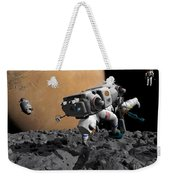 An Astronaut Makes First Human Contact Weekender Tote Bag
