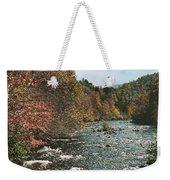 An Autumn Scene Along Little River Weekender Tote Bag