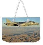 An Av-8b Harrier Conducts A Test Flight Weekender Tote Bag