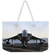 An Av-8b Harrier Maneuvers Weekender Tote Bag