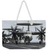 An E-2c Hawkeye Aircraft On The Flight Weekender Tote Bag