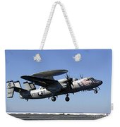 An E-2c Hawkeye Conducts A Touch-and-go Weekender Tote Bag by Stocktrek Images