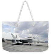An Ea-18g Growler Takes Off From Uss Weekender Tote Bag
