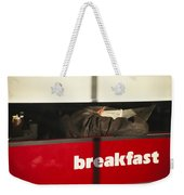 An Early Morning Diner Reads The Paper Weekender Tote Bag