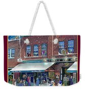 An Early Snow For Cafe Monte Alto Weekender Tote Bag