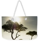 An Elephant Walks Among The Trees Kenya Weekender Tote Bag