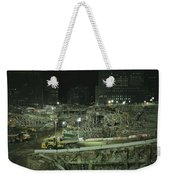 An Elevated View Of Ground Zeros Weekender Tote Bag
