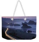 An Evening View Of Highway 101 South Weekender Tote Bag