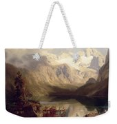 An Extensive Alpine Lake Landscape Weekender Tote Bag