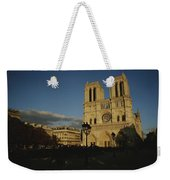 An Exterior View Of Notre Dame Weekender Tote Bag