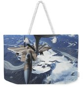 An F-15c Eagle Aircraft Sits Weekender Tote Bag