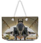 An F-15i Raam Parked In The Hangar Weekender Tote Bag