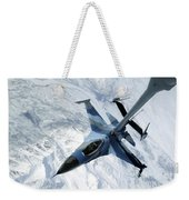 An F-16 Aggressor Sits In Contact Weekender Tote Bag