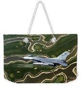An F-16 Fighting Falcon Flies Near Base Weekender Tote Bag