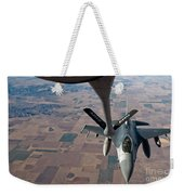 An F-16 Fighting Falcon Moves Weekender Tote Bag