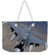 An F-16 Fighting Falcon Returns Weekender Tote Bag