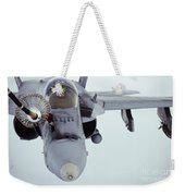 An Fa-18 Super Hornet Receives Fuel Weekender Tote Bag