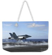 An Fa-18e Super Hornet Catapults Weekender Tote Bag
