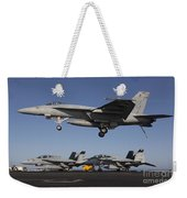 An Fa-18e Super Hornet Comes In For An Weekender Tote Bag