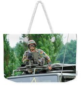 An Infantry Soldier Of The Belgian Army Weekender Tote Bag