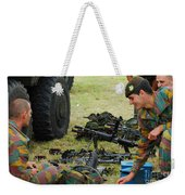 An Infantry Unit Of The Belgian Army Weekender Tote Bag by Luc De Jaeger